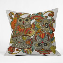 Valentina Ramos Polyester 4 Owls Indoor/Outdoor Throw Pillow