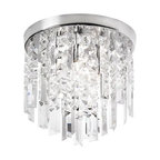 Dainolite - Dainolite CUB-103FH-PC Cubix 3 Light Flushmount Ceiling Fixture - Features: