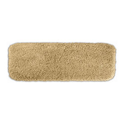None - Serenity Washable Golden Sand 22 x 60 Bath Runner - Luxuriate in the deep pile of the Serenity bath and spa collection. This tan rug is created from durable, machine-washable nylon and features non-skid latex backing for safety.