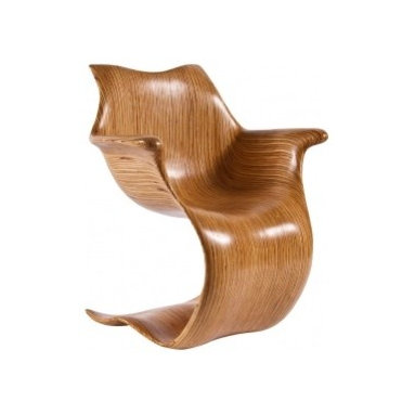 Eco Friendly Furnture and Lighting - Contour Arm Chair by Robert Reeves.America Contemporary Laminate cantilever chair part of Robert Reeves' Contour Collection.