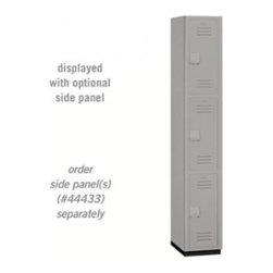 Salsbury Industries - Heavy Duty Plastic Locker - Triple Tier - 1 Wide - 6 Feet High - 18 Inches Deep - Heavy Duty Plastic Locker - Triple Tier - 1 Wide - 6 Feet High - 18 Inches Deep - Gray