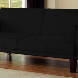 Dorel Home Products - Metro Futon Sofa Sleeper - Soft and durable microfiber upholstery. Classic wood feet. Converts quickly and easily to full size sleeper. Mid-century modern design fits well with traditional and contemporary decor. Warranty: One year. Weight capacity: 600 lbs.. Sofa: 70 in. L x 32.7 in. W x 29.5 in. H. Bed: 70 in. L x 43.5 in. W x 15.7 in. H (88 lbs.). Assembly Instructions