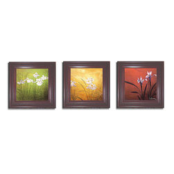 Don Li-Leger - Don Li-Leger 'Karma' Framed Canvas 3-piece Set - Artist: Don Li-LegerTitle: KarmaProduct Type: Framed Canvas Art