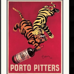 Amanti Art - Porto Pitters Framed Print by Leonetto Cappiello - Go wild with this French advertisement print for our wall. The colors are brilliant, the design eye-catching and it's already professionally framed and matted and ready to hang.