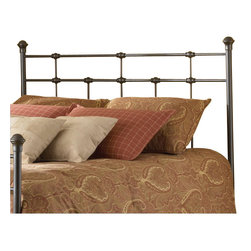 Fashion Bed - Fashion Bed Dexter Metal Headboard in Hammered Brown Finish-Queen - Fashion Bed - Headboards - B42145 - Enhance your classic bedroom theme with this charming and affordable metal frame from the Fashion Bed Group. The Dexter Metal Headboard features vintage-inspired design complemented with a lustrous warm brown finish.