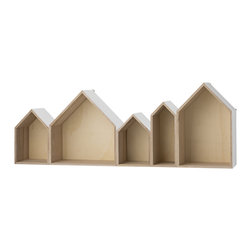 Imported. - Row Houses Box Shelf - Wood & White - Row Houses Box Shelf - Wood & White. Measures 37.4 W x 13.8 H x 6.30 D. Imported.