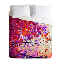 DENY Designs - Mareike Boehmer Autumn 5 Y Duvet Cover - Turn your basic, boring down comforter into the super stylish focal point of your bedroom. Our Luxe Duvet is made from a heavy-weight luxurious woven polyester with a 50% cotton/50% polyester cream bottom. It also includes a hidden zipper with interior corner ties to secure your comforter. It��_s comfy, fade-resistant, and custom printed for each and every customer.