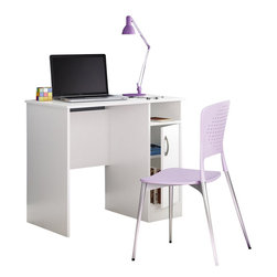 South Shore - South Shore Axess Small Desk in Pure White - South Shore - Computer Desks - 7250075 - Need to tidy up your home office? This Axess collection small desk is perfect for all your storage needs, even in tight spaces! Its compact design includes all the space you need for a well-organized workspace thanks to its storage spaces.