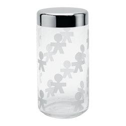 "Alessi - Alessi ""Girotondo"" Jar, Large - Large: 1 quart, 19.5 ounce capacity"