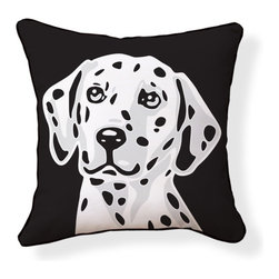 "Naked Decor - Dalmatian Pillow - Size: 18""x18"""