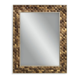 Bassett Mirror - Taca Wall Mirror - This rectangular mirror features rich, brown coco shells pieced together in a weave pattern. The organic texture is perfect for your beach-side getaway — or imagining you're relaxing in one.