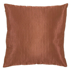 "Surya - Surya PC-1004 Textured Solid Pillow, 18"" x 18"", Poly Fiber Filler - Create a look of contemporary charm with this elegant pillow. Featuring a subtly chic design and striking chocolate brown coloring, this piece will pair perfectly with a range of styles, securing itself as the crowning jewel of any space. This pillow contains a zipper closure and provides a reliable and affordable solution to updating your home's decor."