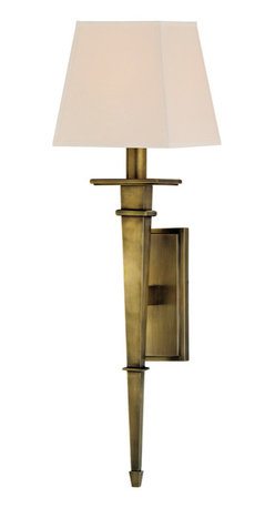 Hudson Valley Lighting - Hudson Valley Lighting 230-AGB Stanford Aged Brass Wall Sconce - Hudson Valley Lighting 230-AGB Stanford Aged Brass Wall Sconce