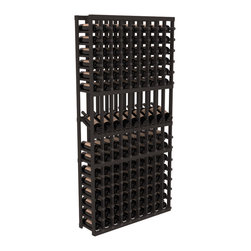 Wine Racks America - 9 Column Display Row Wine Cellar Kit in Pine, Black - We select from the highest grade materials available. Completely solid assembly retains strength while displaying 9 of your favorite bottles. We guarantee it will last. All the edges of our products are softened to ensure you won't get nicks or splinters, like you will from budget competition. You'll be satisfied. We guarantee that, too.