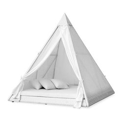 Ferrat Pyramid Daybed - As a reading nook or toddler bed, this pyramid daybed would make a lovely spot to curl up.