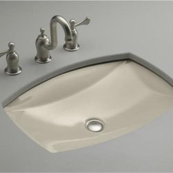 "KOHLER - KOHLER K-2382-G9 Kelston Undercounter Lavatory in Sandbar - KOHLER K-2382-G9 Kelston Undercounter Lavatory in SandbarThe Kelston's undermount basin shape is ideal for a powder room where space savings are imperative. This basin features an overflow and is available in a multitude of colors.KOHLER K-2382-G9 Kelston Undercounter Lavatory in Sandbar, Features:• 19-5/16""L  x 14""W  x 5""H"
