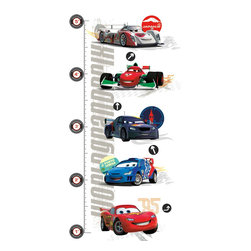 York Wallcoverings - Disney Cars 2 Growth Chart Large Wall Accent Decal Set - Features: