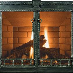 Blacksmith Stoll Fireplace Glass Door - Custom Product -