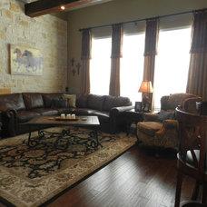 Rustic Living Room by Rhonda Ferguson, Interiors Refined LLC