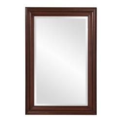 Howard Elliott - Howard Elliott George Rectangular Brown Mirror - Wenge brown rectangular wood vanity mirror