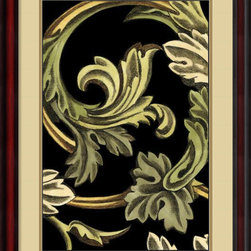 Amanti Art - Ethan Harper 'Classical Frieze II' Framed Art Print 24 x 32-inch - Add a classically inspired design to your walls with this 'Classical Frieze II.' Created by Ethan Harper, the smooth lines, curled tendrils and golden leaves of this design will add a marvelous touch to any decor.