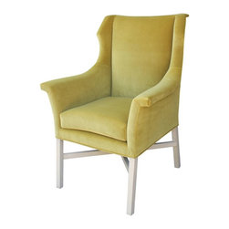 Mortise & Tenon - Mid Century Modern Brady Chair - Shown in a Citrine Green