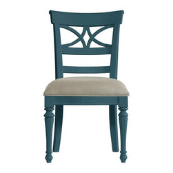 Stanley Furniture - Coastal Living Retreat-Sea Watch Side Chair - A filigree back combined with chamfered legs provides good reason to sit a little longer.