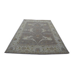 Taupe Oushak Oriental Rug 10x14 100% Wool Hand Knotted Natural Dyes Rug SH14225 - Hand Knotted Oushak & Peshawar Rugs are highly demanded by interior designers.  They are known for their soft & subtle appearance.  They are composed of 100% hand spun wool as well as natural & vegetable dyes. The whole color concept of these rugs is earth tones.