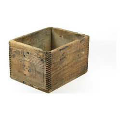 Wood Dovetailed Box - Next to vintage fans and globes, old crates are one of those items I could easily hoard — just think of all the (cute) storage possibilities these provide. This one is the perfect size for sorting paper, mail, or even as a rustic table centerpiece.