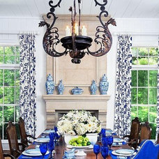 Traditional Dining Room by Francois & Co