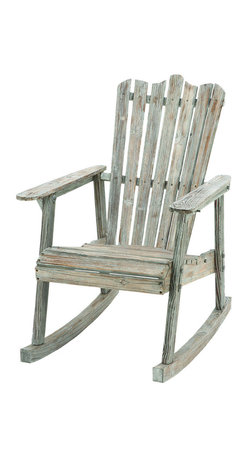 Benzara - Old Look Old Fashioned Rocking Chair - A gorgeous set of furniture that belongs on the balcony of a charming mountain home as much as part of your decor. The outside of the home is often a neglected area when considering a decor style. But with this rocking chair it couldn't be easier. The perfect thing for your back patio is also the best addition you can make for your outside decor.