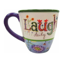 """WL - 4 Inch """"Laugh"""" 12 oz Coffee/Tea Mug Collectible Kitchen-Ware Decor - This gorgeous 4 Inch """"Laugh"""" 12 oz Coffee/Tea Mug Collectible Kitchen-Ware Decor has the finest details and highest quality you will find anywhere! 4 Inch """"Laugh"""" 12 oz Coffee/Tea Mug Collectible Kitchen-Ware Decor is truly remarkable."""