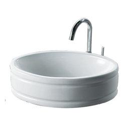 Foremost - Foremost 08-0012-W Solerno Round Vessel Sink in White -