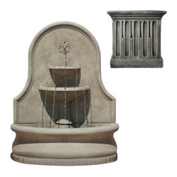 Campania International - Estancia Wall Fountain - Alpine Stone (AS) - 898 lbs. Shipping is available throughout the continental United States. As these fountains are made to order,_please allow 4 to 6 weeks for delivery. Drop ship is curbside delivery only.