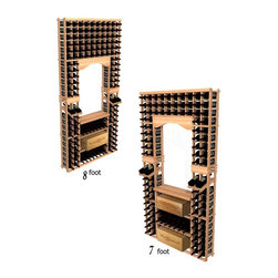 Wine Cellar Innovations - Winemaker Series Individual Tasting Center with Displays and Case Storage - This wine racking option is sold to be compatible with the Archway & Table Top option, or the Glass Rack and Table Top Option. This module consists of all the above and below individual wine bottle racking, as well as the case rack as pictured. Assembly Required.