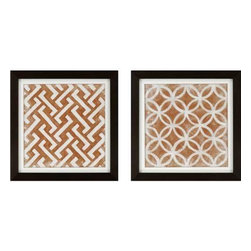 Paragon Art - Paragon Modern Symmetry I ,Set of 2- Artwork - Modern Symmetry I ,Set of 2    ,  Paragon Exclusive            Textured Giclee      Artist is Zarris , Paragon has some of the finest designers in the home accessory industry. From industry veterans with an intimate knowledge of design, to new talent with an eye for the cutting edge, Paragon is poised to elevate wall decor to a new level of style.