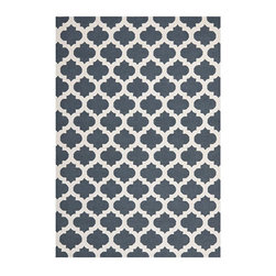 Ballard Designs - Tory Dhurrie Rug - Transitional styling. Sizes are approximate. Imported from India. Inspired by a traditional medallion motif, our Tory Dhurrie Rug makes a graphic statement any place you put it. The rich hues are hand woven of wool in a reversible flatweave that holds up well in a variety of settings. Use of a rug pad is recommended. Tory Dhurrie Rug features: . . .