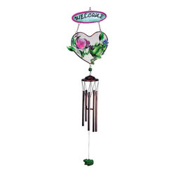 "GWC - 33 Inch Frog Design Heart Shaped ""Welcome"" Metal Wind Chime - This gorgeous 33 Inch Frog Design Heart Shaped ""Welcome"" Metal Wind Chime has the finest details and highest quality you will find anywhere! 33 Inch Frog Design Heart Shaped ""Welcome"" Metal Wind Chime is truly remarkable."