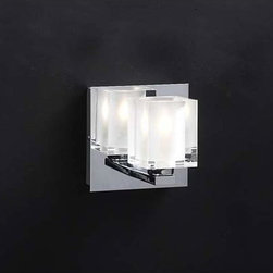 PLC Lighting - Glacier One-Light Bath Fixture - - Clear Glass with Inside Frost PLC Lighting - 3481 PC