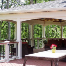 Traditional Porch by Distinctive Deck Designs