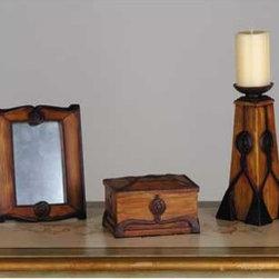Meyda - Mackintosh Rose Gift Set Comfort Lighting - Color theme: Oak with Mahogany Bronze