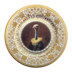 Beat Up Creations - Marquise de Struthio Altered Antique Plate - For Decorative Purposes