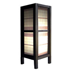 """Oriental-Decor - 15"""" Wicker Tower Lamp - This fabulous decorative lamp features a bamboo frame that makes for great Asian decor and provides a soft and soothing light in any room. Place this lamp on the floor of your room for a romantic and relaxing setting."""