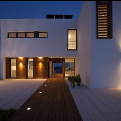 modern  patio lighting