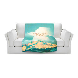 DiaNoche Designs - Throw Blanket Fleece - Monika Strigel Wash your Spirit Clean - Original Artwork printed to an ultra soft fleece Blanket for a unique look and feel of your living room couch or bedroom space.  DiaNoche Designs uses images from artists all over the world to create Illuminated art, Canvas Art, Sheets, Pillows, Duvets, Blankets and many other items that you can print to.  Every purchase supports an artist!