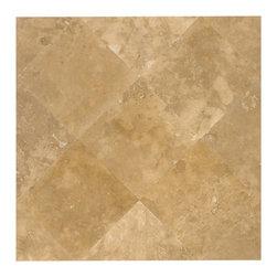 Travertine Mart - Medium Honed & Filled Travertine Tile - Honed & Filled 18x18 Medium Travertine Tile
