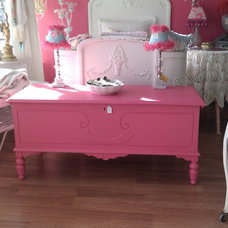 Eclectic Bedroom Benches by Donna Thomas Vintage Chic Furniture