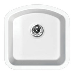 Whitehaus Collection - Whitehaus WHE1717D Elementhaus Undermount Single D-Bowl Fireclay Sink - Elementhaus Series D-bowl Fireclay Sink in White by Whitehaus Collection. This fireclay Sink is made of 100% organic material. The timeless design can be installed as an under-mount or a drop-in application. This sink will be the center piece of your kitchen for years to come. Can be installed as a drop in or under-mount. Smooth oven fired glaze adds to the beauty of this fireclay sink.