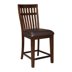Standard Furniture - Standard Furniture Artisan Loft Counter Chair in Aged Bronze [Set of 2] - The rustic, yet refined character of Arts & Crafts styling is portrayed in the authentic craftsman elements found in Artisan Loft Dining.