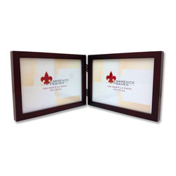 "Lawrence Frames - 755975D Espresso Wood 7x5 Hinged Double Picture Frame - This wood picture frame is the same you will find in studios and galleries and is the perfect frame for simply and elegantly framing any image.  It is a high quality wood frame joined in the corners with a ""spline"" joint.  The molding is approximately 1 2 "" and is the perfect frame to use for a wall gallery.  This picture frame comes individually boxed, and includes high quality black backing with hangers for wall mounting."